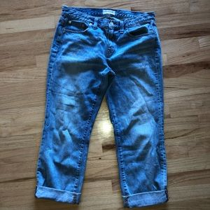 Madewell Boy Jeans Cropped Cuffed Size 28